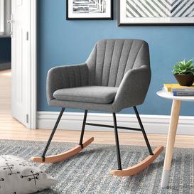 image-Cala Rocking Chair Zipcode Design Colour: Grey