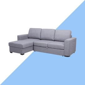 image-Chul Reversible Sleeper Corner Sofa Bed Hashtag Home Upholstery Colour: Grey