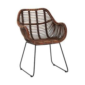 image-Olivia's Joanna Curved Occasional Chair Dark Brown / Dark Brown