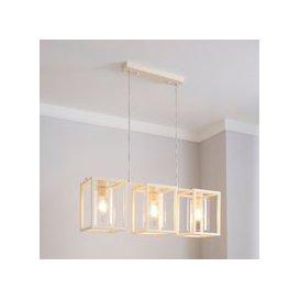 image-London 3 Light Cream Industrial Diner Ceiling Fitting Cream