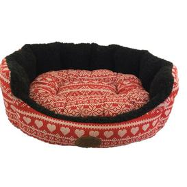 image-Brantley Dog Bed in Red/White Archie & Oscar Size: 20cm H x 55.5cm W x 63.5 cm D
