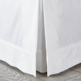image-Dorma 300 Thread Count 100% Cotton Percale Plain White Divan Trim White