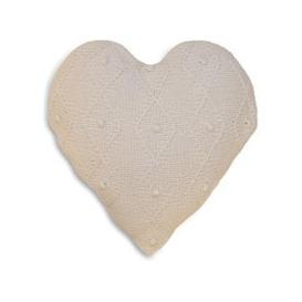 image-Argyll Heart Cushion White