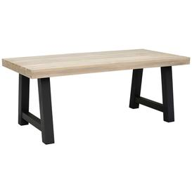 image-Beach Garden Dining Table, Graphite And Aged Teak