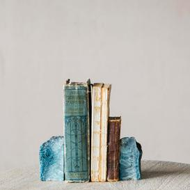 image-Blue Agate Bookends