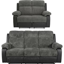 image-Argos Home Bradley 2 & 3 Seater Recliner Sofa - Charcoal