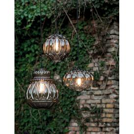 image-Ginger 1 Light Outdoor Pendant Karman Shade Colour: Smoked Grey