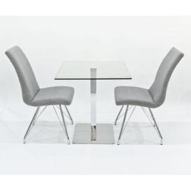 image-Derose Dining Set with 2 Chairs Metro Lane Colour (Chair): Grey