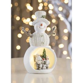 image-Beige Christmas Scene Snowman LED Luminary Light Aynsley China