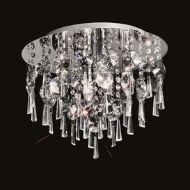 image-C5719 Round 4 Light Crystal Bathroom Flush Ceiling Light