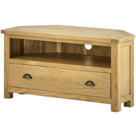 image-Provence Oak Corner Tv Cabinet