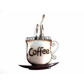image-Coffee Cup Metal Wall Décor