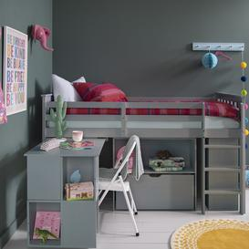 image-Oliver Cabin Bed Sleepstation with Underbed Storage and Desk in Silk G