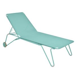 image-Harry Sun lounger - 4 positions by Fermob Lagoon blue