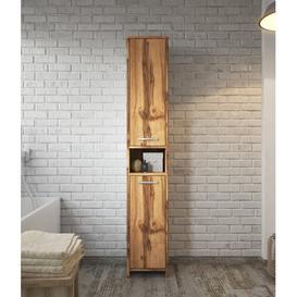 image-Nettey 32cm x 167cm Corner Free Standing Cabinet Belfry Bathroom Finish: Brown