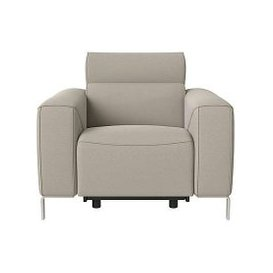 image-Nicoletti - Lusso Fabric Power Recliner Armchair with Power Headrest