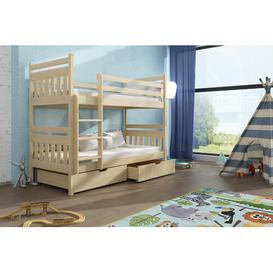 image-Massimo Single (3') Bunk Bed with Drawers Isabelle & Max Colour (Bed Frame): Pine