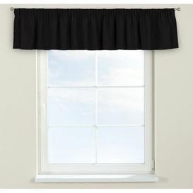 image-Panama Curtain Pelmet Dekoria Size: 130cm W x 40cm L, Colour: Black