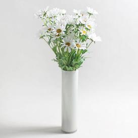 image-Pack of 12 Artificial Daisy White Spray 72cm Cream