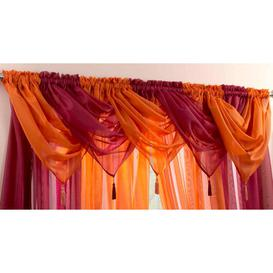 image-Maloy 56cm Curtain Pelmet Bloomsbury Market Colour: Orange