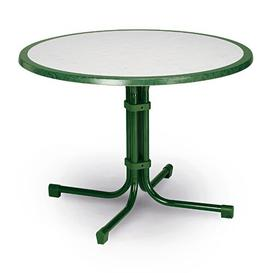 image-Princetown Dining Table Sol 72 Outdoor Colour: Green marble, Size: 60 cm diameter