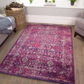 image-Distressed Traditional Runner Rug - Vivid