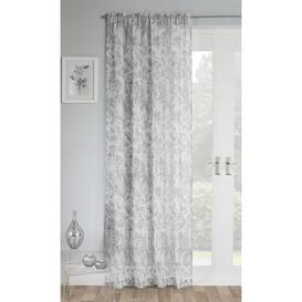 image-Charlize Slot Top Sheer Curtain Brambly Cottage Colour: Grey, Panel Size: 138 W x 229 D cm