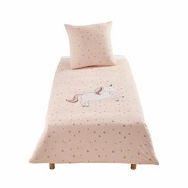 image-Children's Pink Cotton with Golden Stars Print Bedding Set 140X200