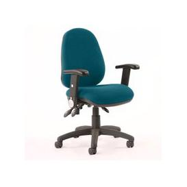 image-Luna II Office Chair In Maringa Teal With Folding Arms