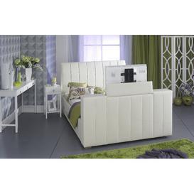 image-Emmalee Upholstered TV Bed Metro Lane Size: Kingsize (5'), Colour: Ivory