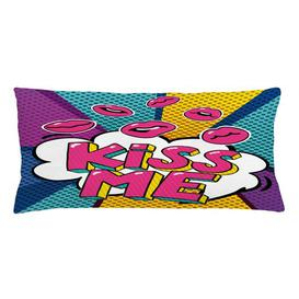 image-Sighwith Kiss Word Bubble Pop Art Outdoor Cushion Cover Ebern Designs
