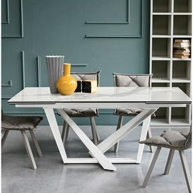 image-Alicea Extendable Dining Table Wade Logan Table Top Colour: Arabesque, Table Base Colour: Graphite