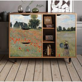 image-Allisonia Sideboard Ebern Designs Colour: The Poppy Field near Argenteuil
