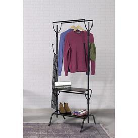 image-Vintage Style Double Metal Clothes Rail