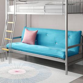 image-Halkyn 15cm Cotton Futon Mattress Symple Stuff Size: Double (4'6), Colour: Navy Blue