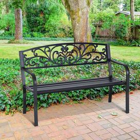 image-Sharleen Steel Bench Sol 72 Outdoor