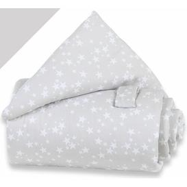 image-Stars Cot Bumper babybay Colour: White/Grey