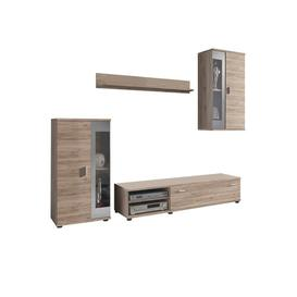 "image-Gerrity Entertainment Unit for TVs up to 60"" Brayden Studio Colour: Light brown/Grey"
