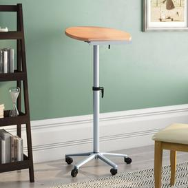 image-Harpe Height Adjustable Standing Desk Brayden Studio Colour: Beech