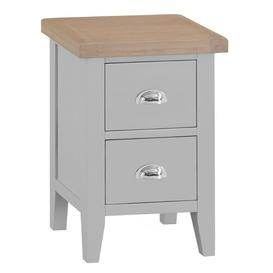 image-Eminence 2 Drawer Bedside Table Beachcrest Home Colour: Grey