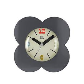image-Orla Kiely House Flower Alarm Clock - Charcoal