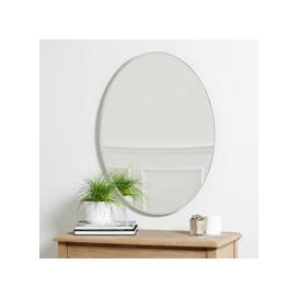 image-Chiltern Thin Metal Oval Mirror, White, One Size
