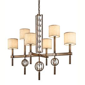 image-Rosier 6-Light Shaded Chandelier Marlow Home Co.
