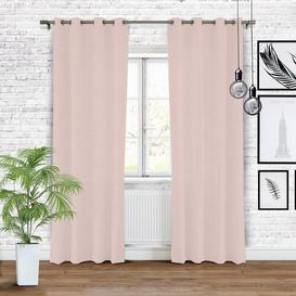 image-Romana Eyelet Blackout Single Curtain Ebern Designs Colour: Powder Pink