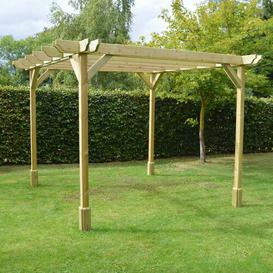 image-Randi Manufactured Wood Pergola Sol 72 Outdoor Finish: Light Green, Size: 270cm H x 480cm W x 480cm D