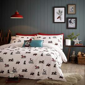 image-Fat Face Sledging Dogs Bedding Set