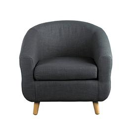 image-Turin Tub Chair- Charcoal