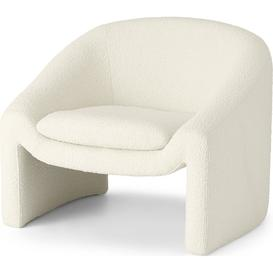 image-Shona Accent Armchair, Whitewash Boucle
