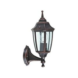 image-Upright Traditional Garden Outside Garden Lantern Wall Light - Black