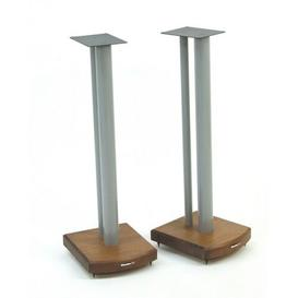 image-70cm Fixed Height Speaker Stand Symple Stuff Finish: Silver/Dark Bamboo